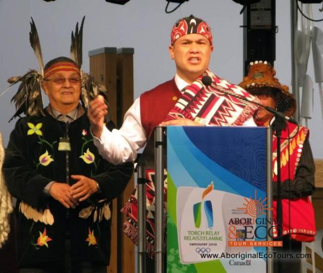 Tewanee Joseph was the executive director of the Four Host First Nations during the 2010 Winter Olympics. Many say the Indigenous participation during the Games was unprecedented. (Bill Graveland/The Canadian Press)