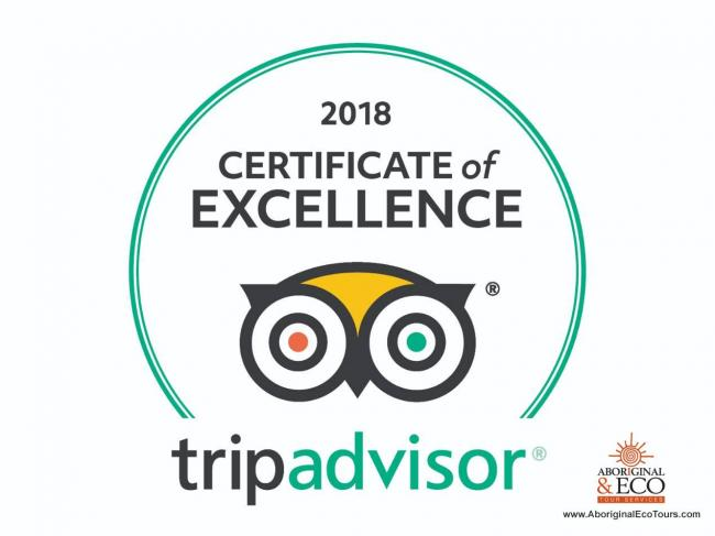 Aboriginal Eco Tours Receives Certificate of Excellence from Trip Advisor